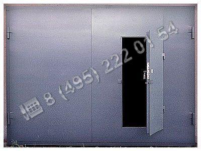 Ворота / Установка ворот сварных металлических ВС125 - пример