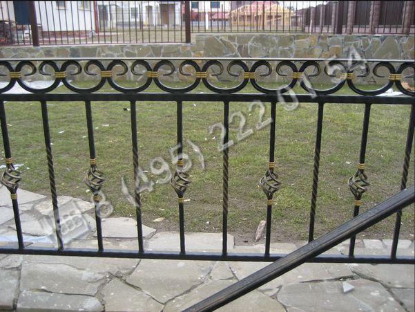 Заборы, ограждения / Образец изготовления кованого ограждения ГК316 в Москве